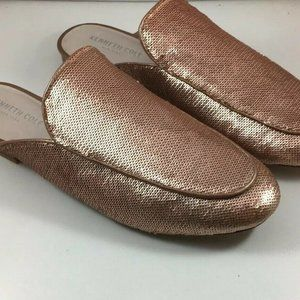 Kenneth Cole Wallice Shine Buff Copper Mules Shoes